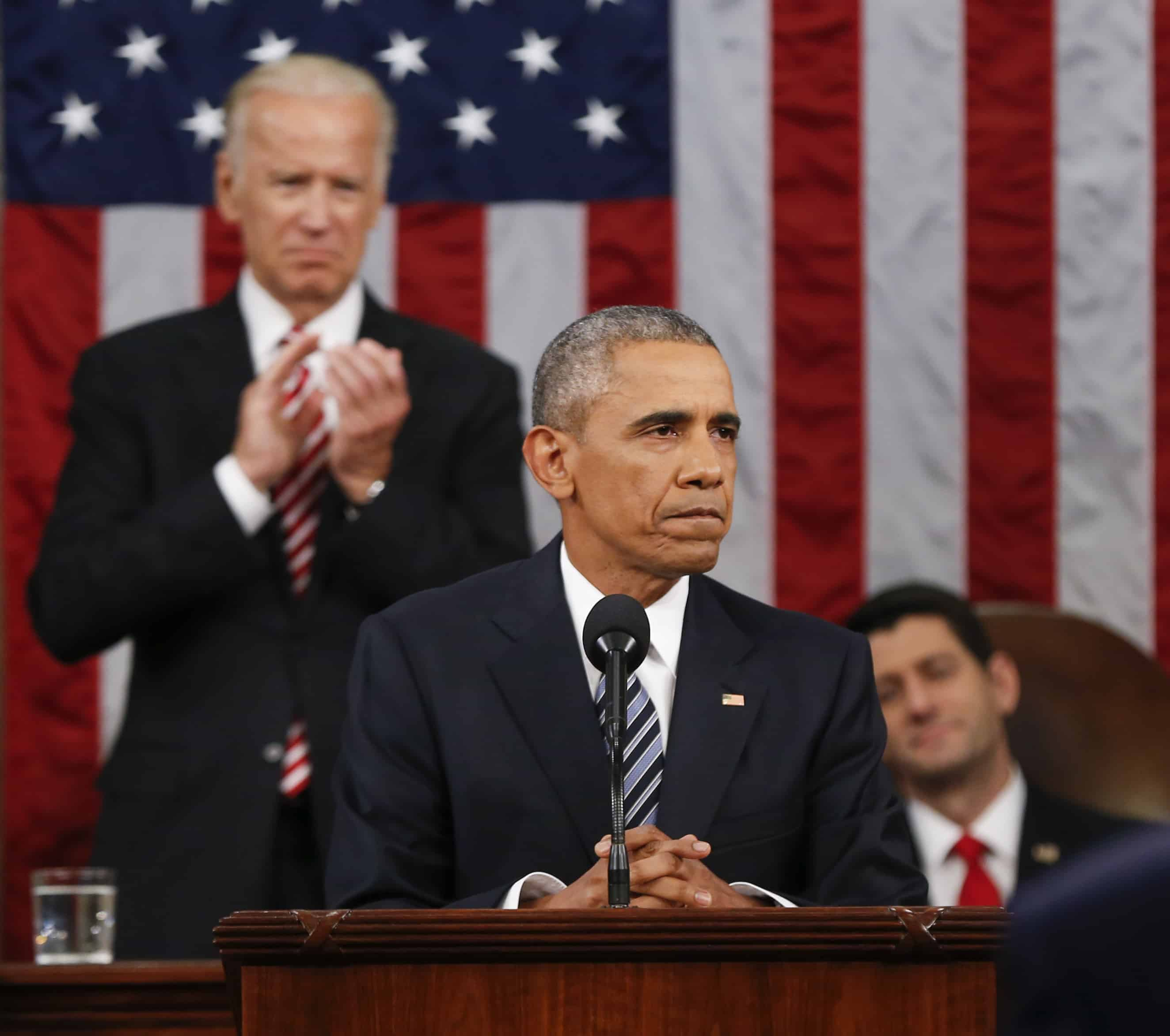 US President Barack Obama taps VP Biden for cancer research during State of the Union speech