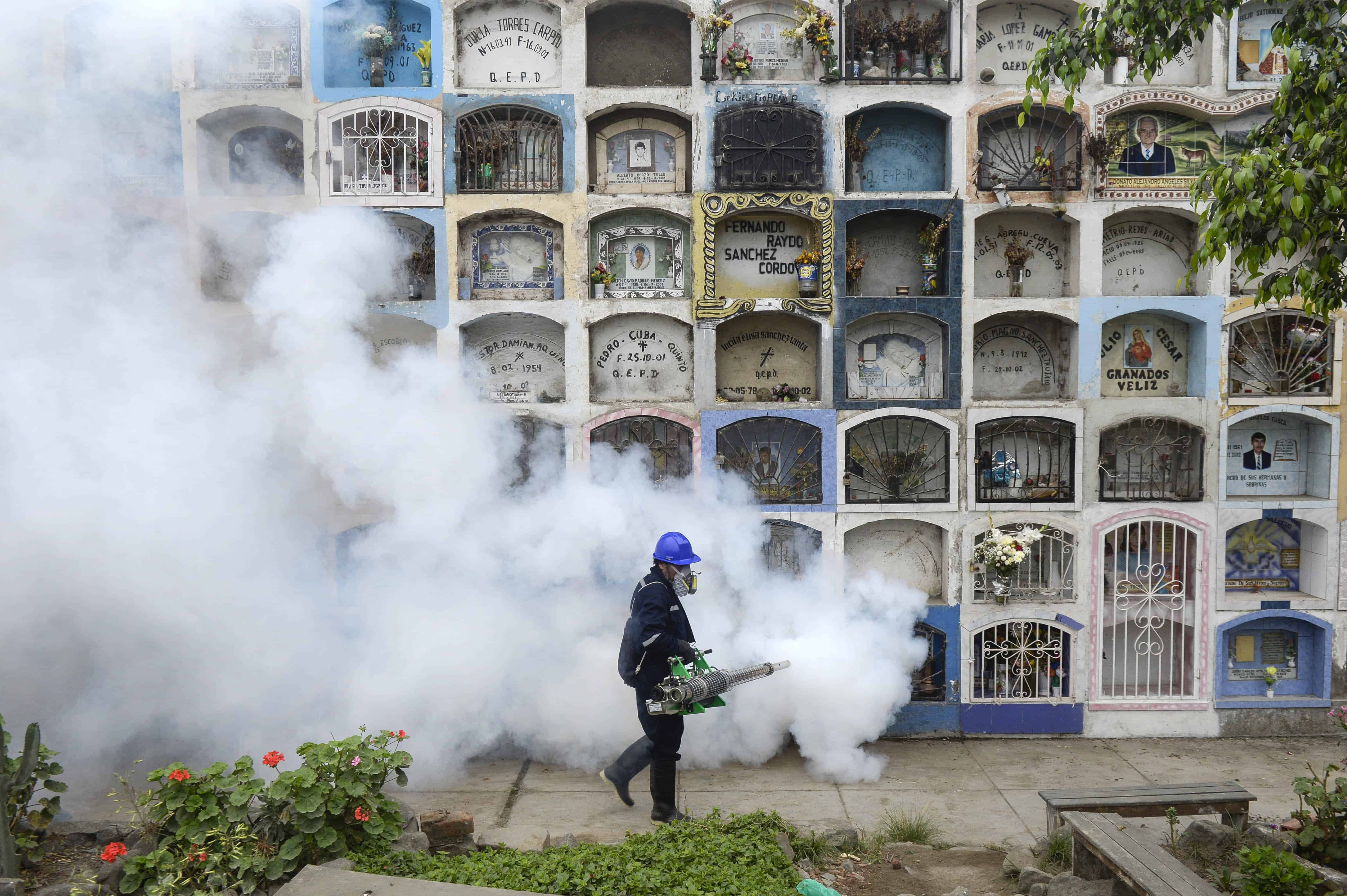 Fumigating in Peru for the zika virus
