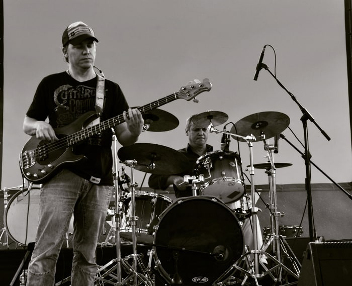 Franco Torterolo of Lima, Peru, on bass, Thomas Fees of Germany on drums.