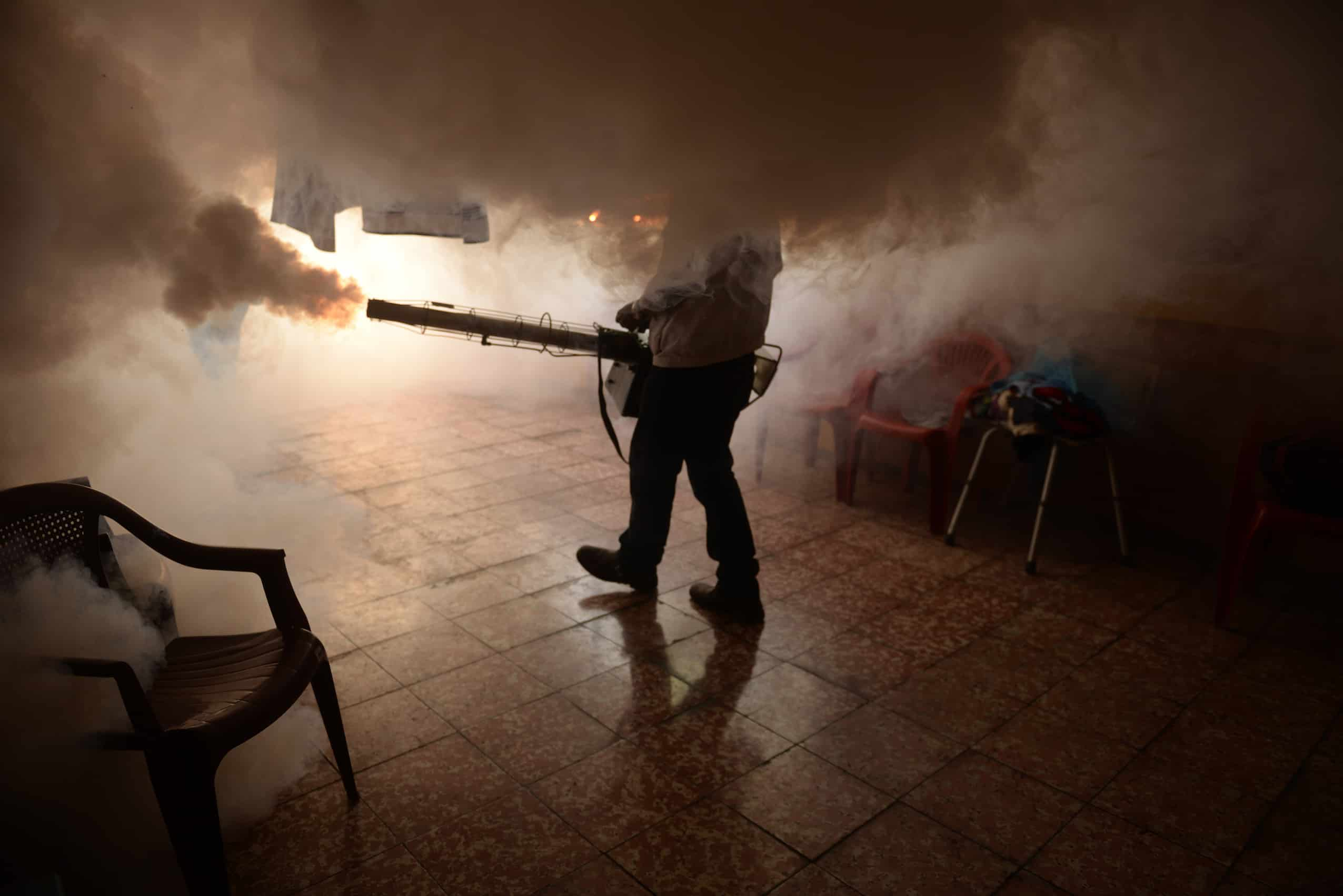 fumigating against Zika virus