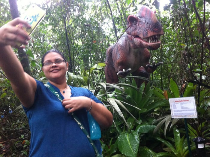 At Dino Park, selfie opportunities abound.