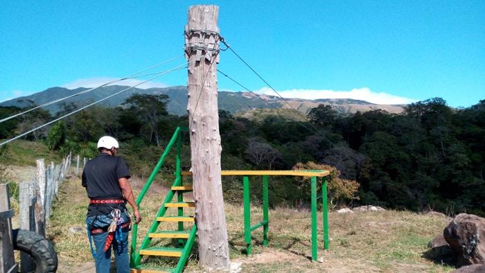 Zipline platform at Buena Vista Lodge.