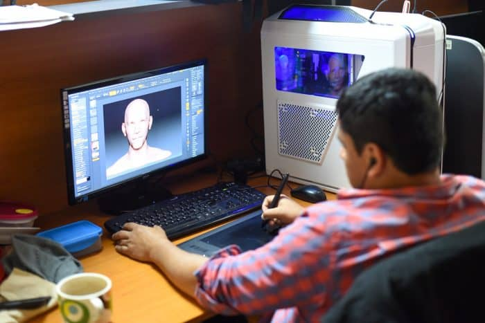 One of Fair Play Labs' digital animators at work. Alberto Font/The Tico Times