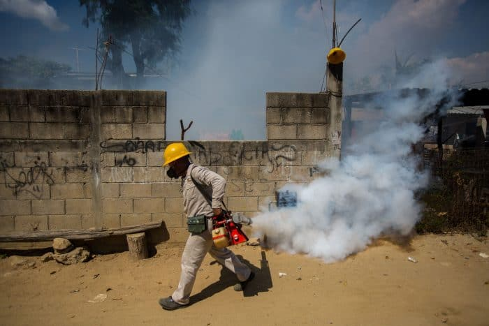 Fumigating against the Aedes aegypti mosquito in Mexico | Zika virus