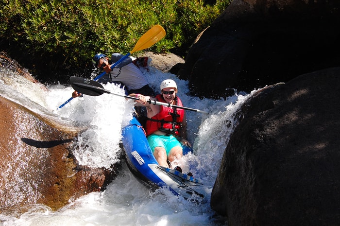 Running a rapid on the Río Colorado.