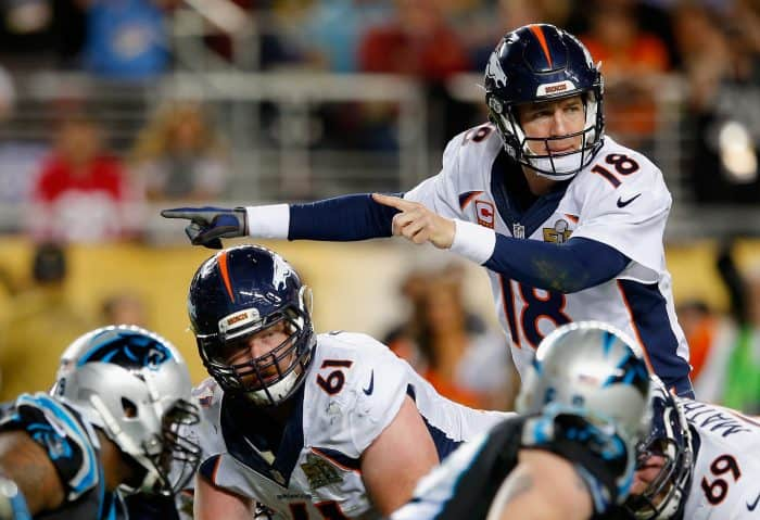 Peyton Manning in Super Bowl 50.