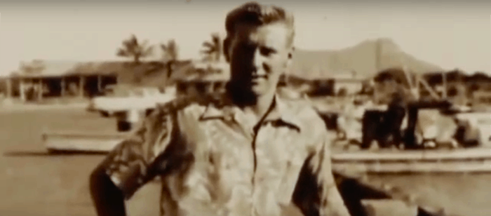 "Young Danny Fowlie in a screenshot from ""The King of Pavones"" video."