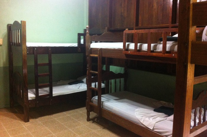 Bunk beds in a room at La Selva.