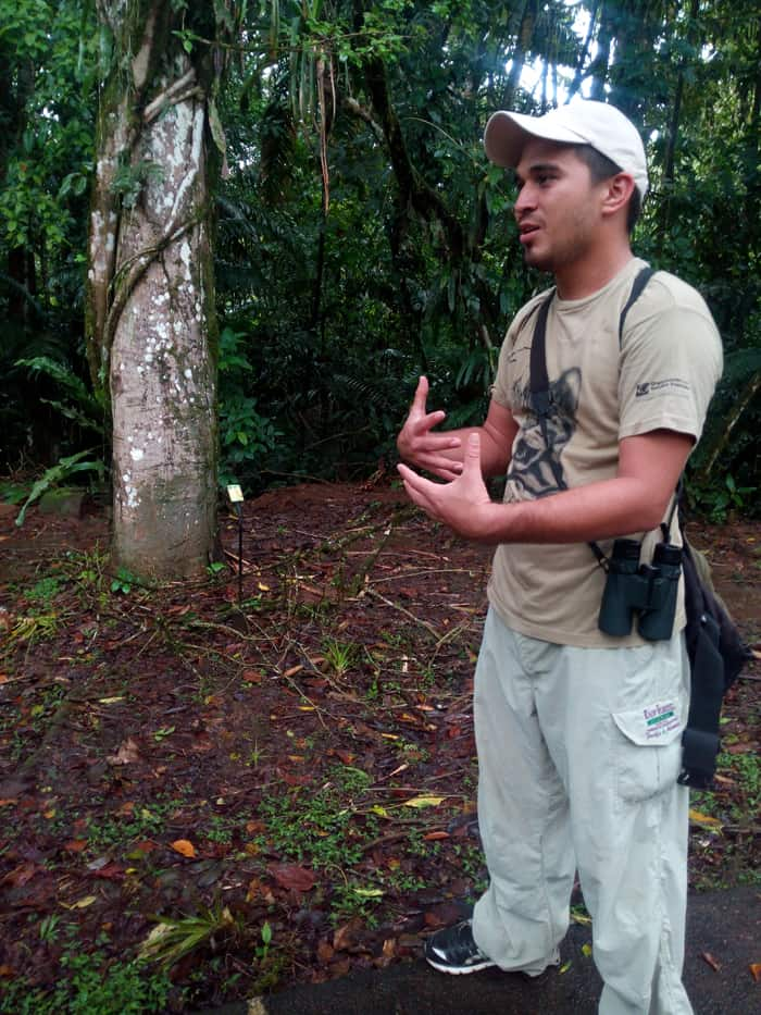 Reimer Palma, naturalist guide at La Selva.