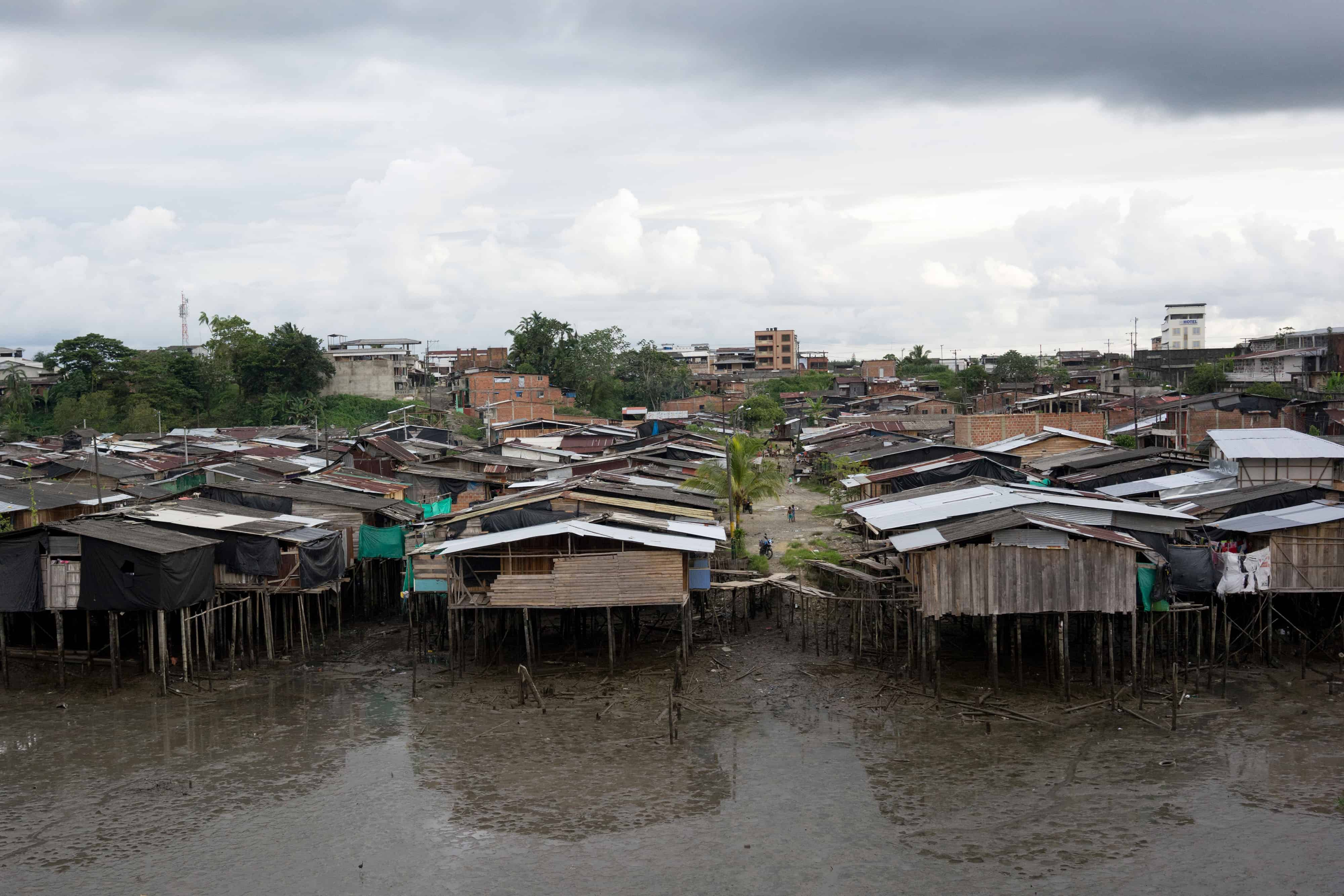 Wooden stilt houses in Buenaventura, Colombia