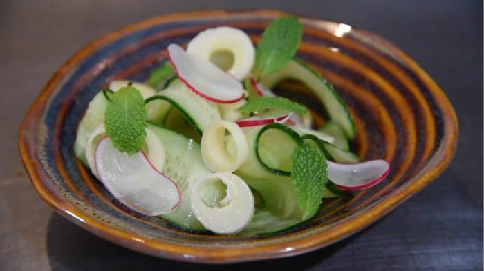 Cucumber salad at Al Mercat