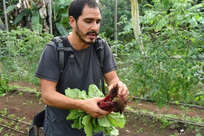 Chef José González at his farm