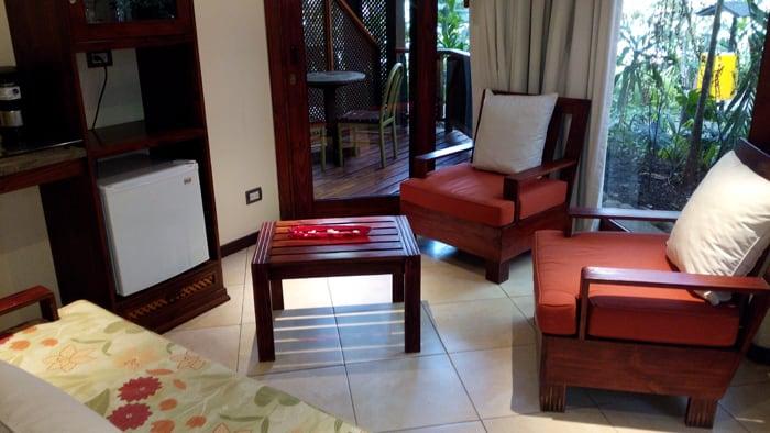 Living room at Bosque del Mar.