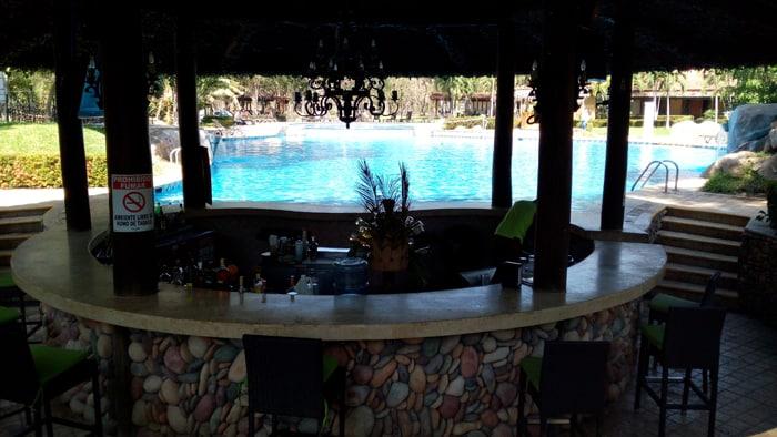 Swimming pool bar at Casa Conde.