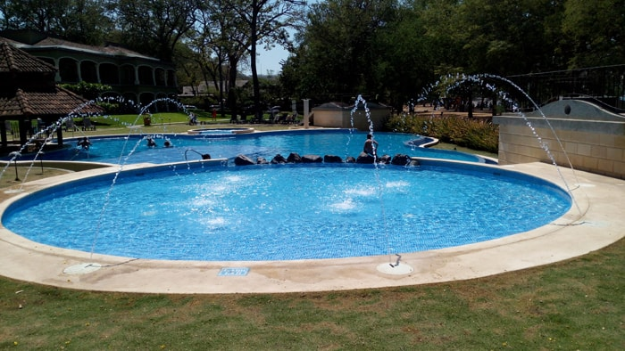 Fountain at Casa Conde.