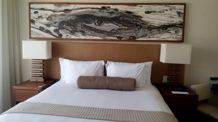 Gorgeous bed at El Mangroove.