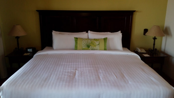 Bed at Occidental Grand Papagayo.