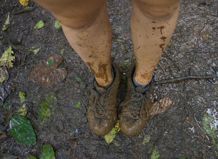 You're in for a muddy walk if you visit Tenorio Volcano National Park after a downpour.