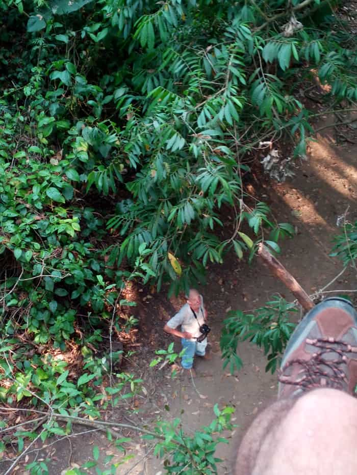 Jack Ewing, owner of Hacienda Barú Lodge, photographed from the EcoTram.