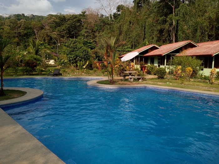View from the pool at Hacienda Barú Lodge.
