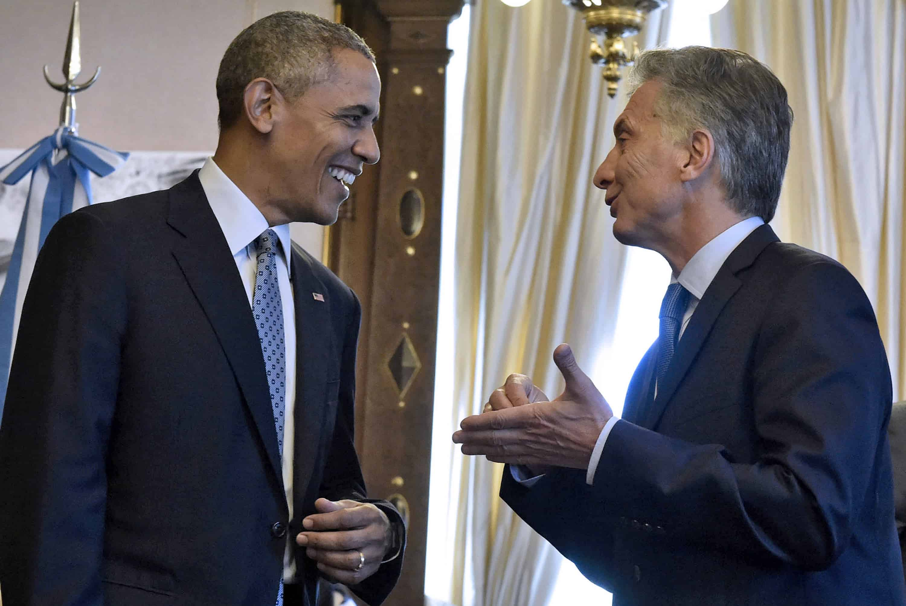 U.S. President Barack Obama, left, and Argentine President Mauricio Macri | Obama in Argentina