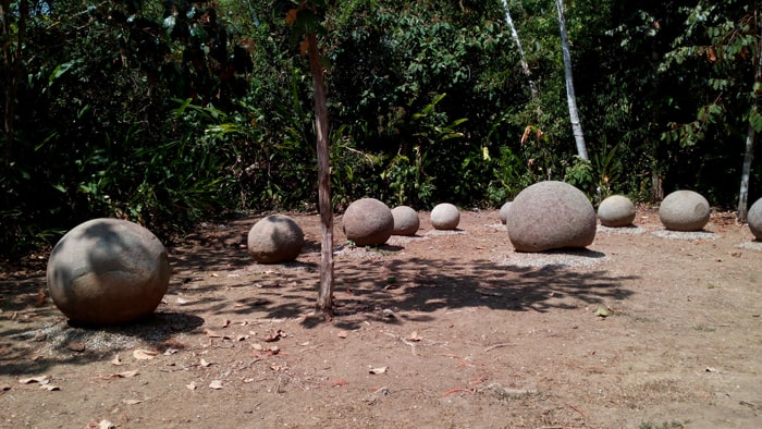 Stone spheres at Finca 6 in southwest Costa Rica.