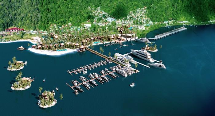 Artist's rendering of Golfito Marina Village.