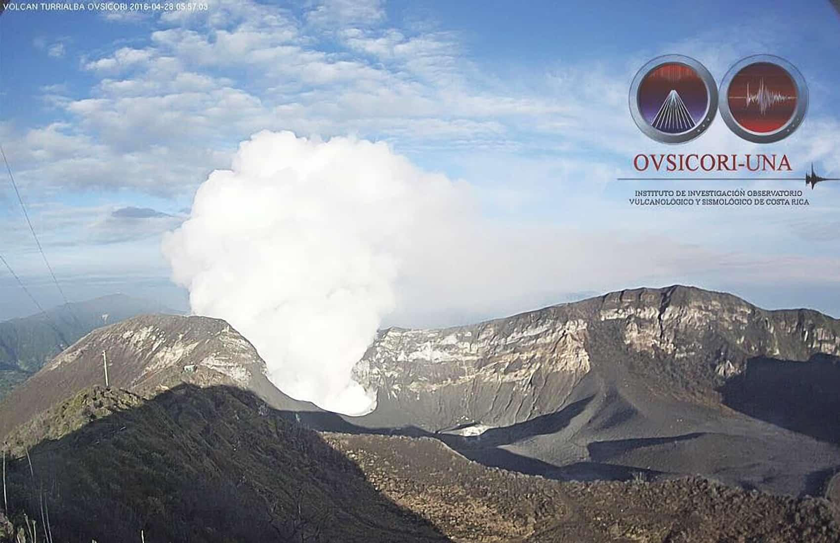 Turrialba Volcano, April 28, 2016