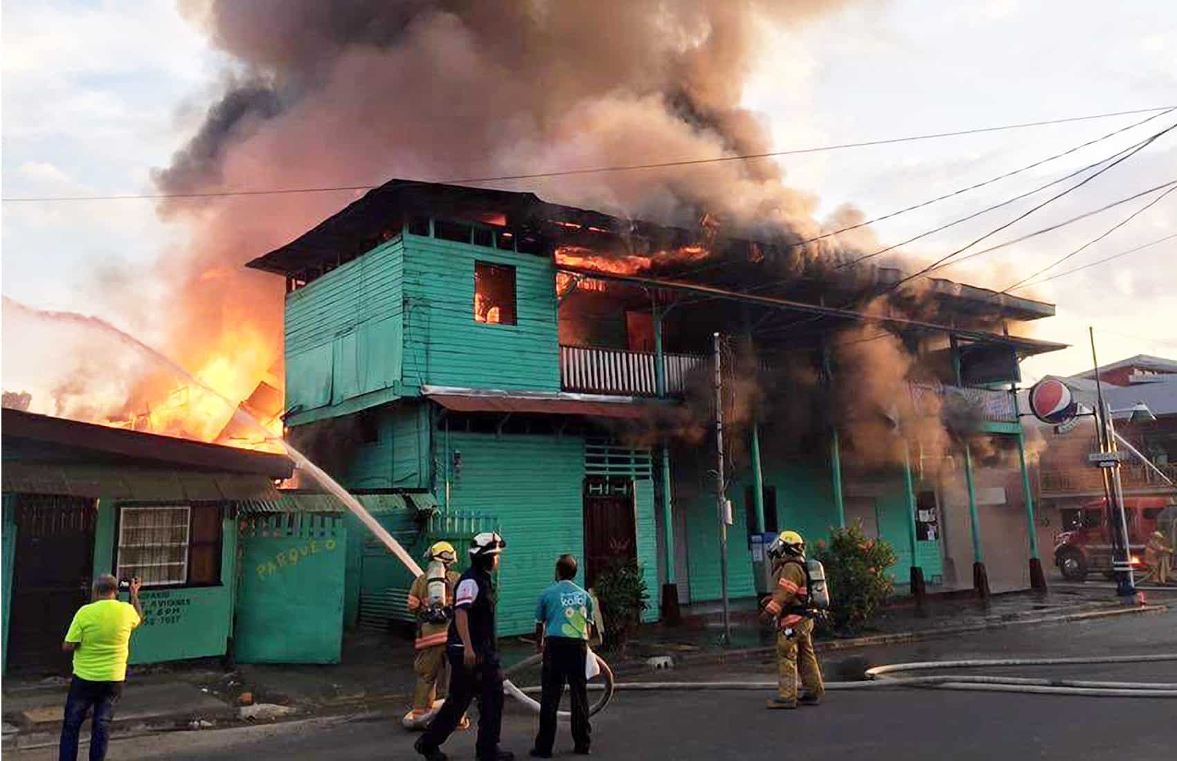 Fire at the Black Star Line building. April 29, 2016