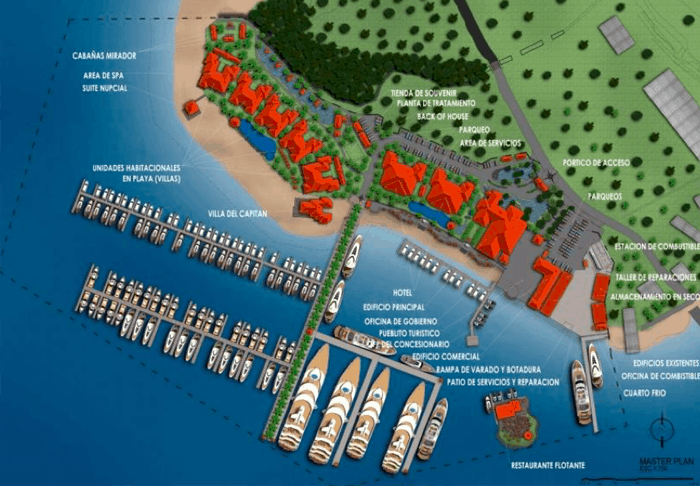 Master plan for Golfito Marina Village.