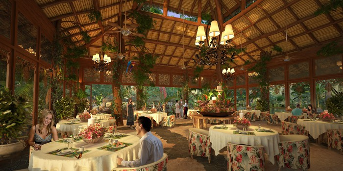 Got the ring? Artist's rendering of a future dinner inside the Jungle Restaurant.