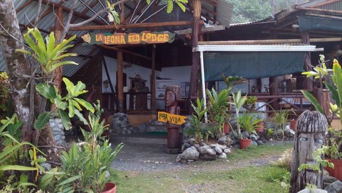 We made it! La Leona Eco Lodge.