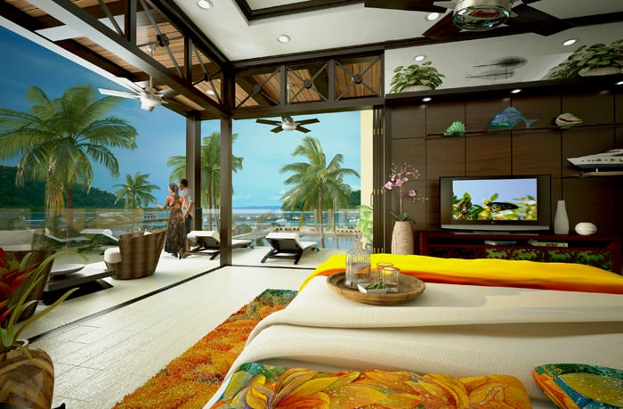 Artist's rendering of a 2-bedroom villa.