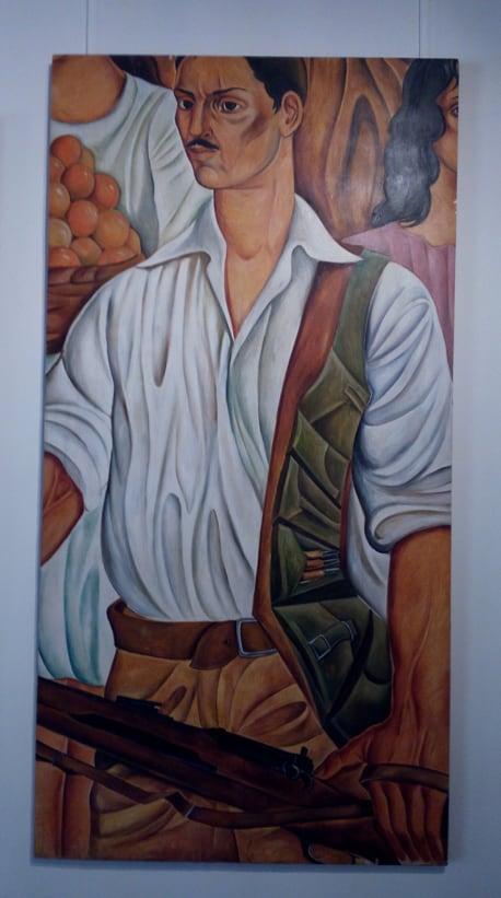"Detail of a mural called ""Second Republic"" by Lucio Ranucci Gagliardi, 1955."