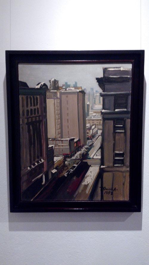 """""""Broadway"""" by Teodorico Quirós Alvarado, oleo, 1952."""