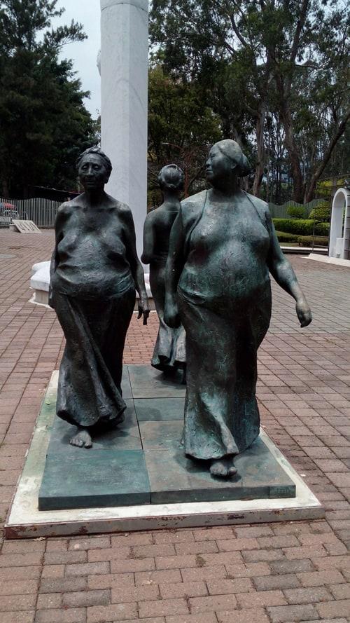 Sculpture by Francisco Zuñiga, 1981.