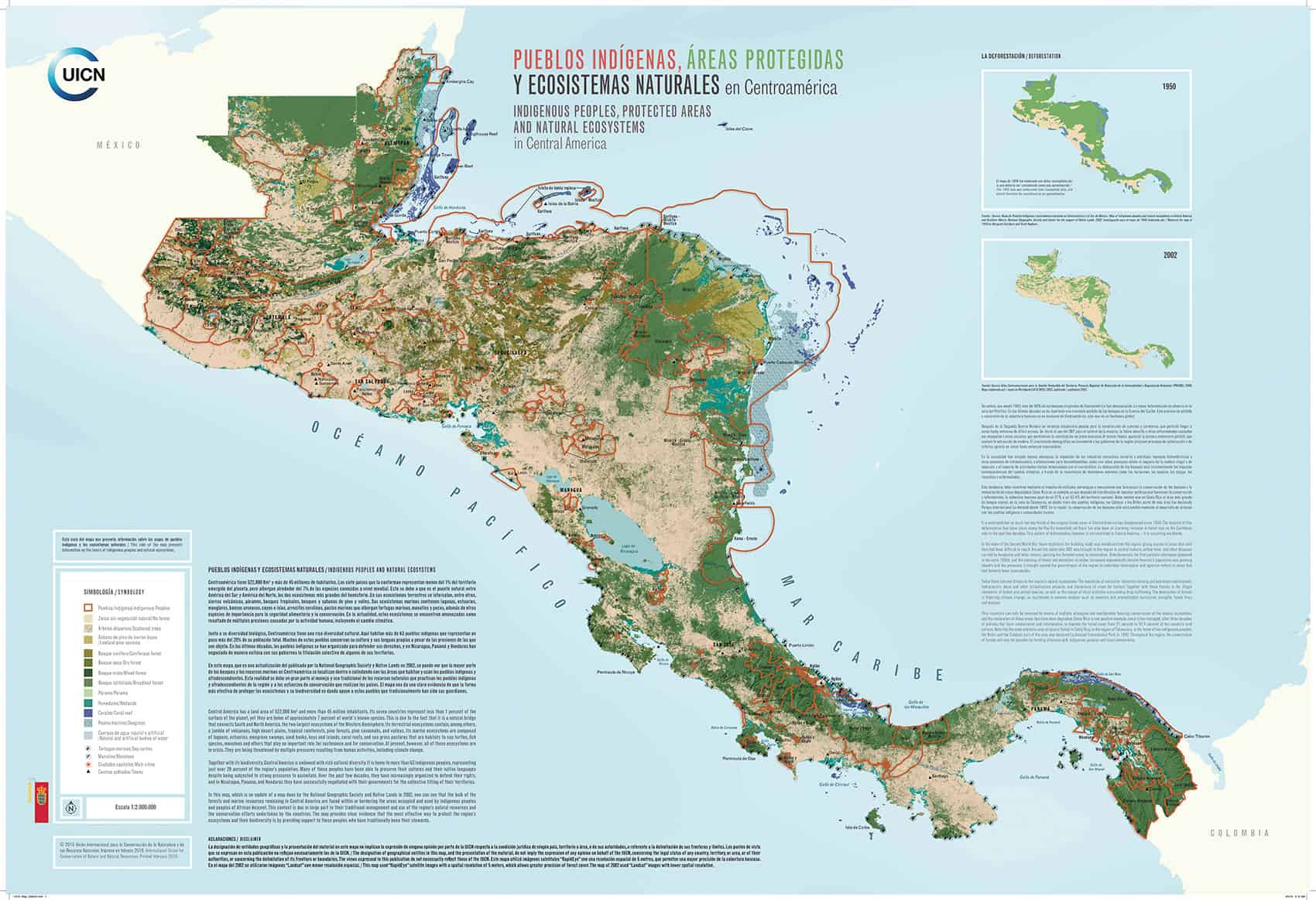 mpa of Central America indigenous communities