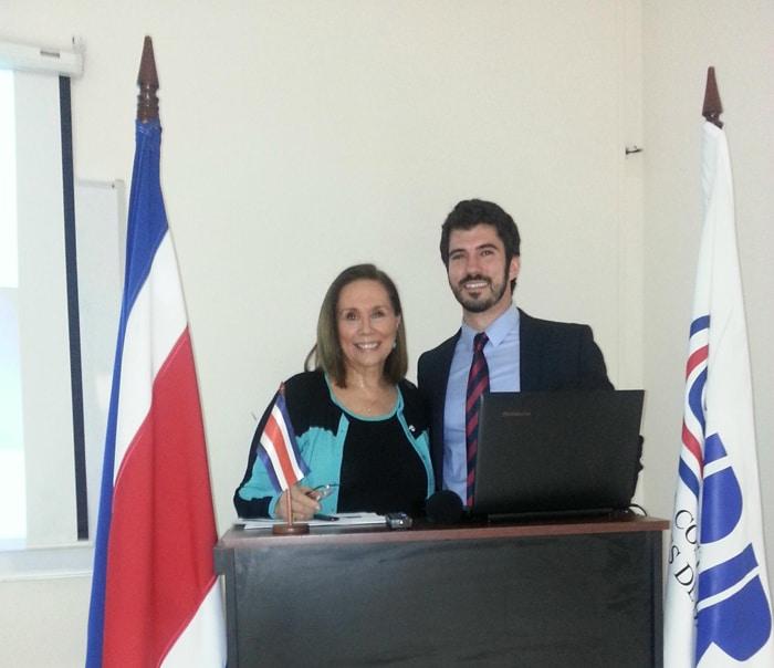 Ofelia Ulloa and Alejandro Escudero.