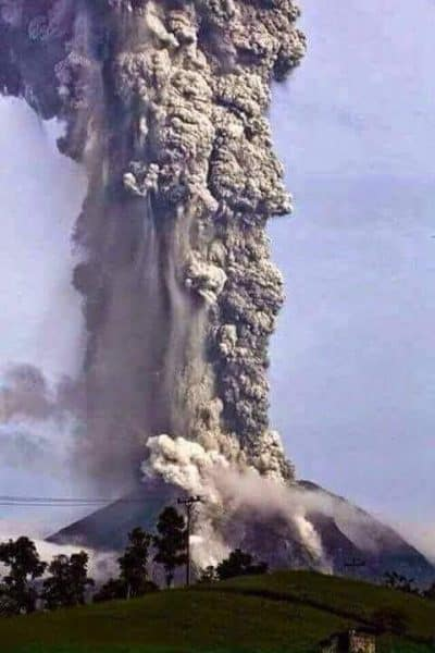 Mount Sinabung in Indonesia erupting in November 2013.