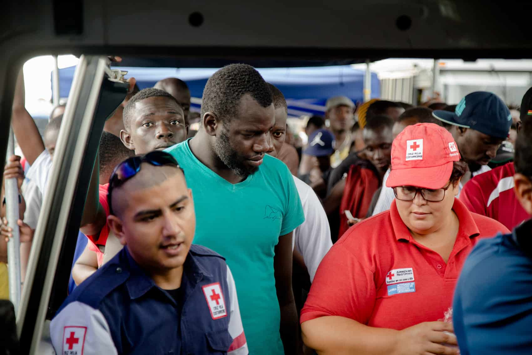 African migrants in Paso Canoas