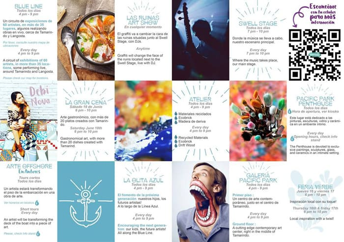 Program for Tamarindo Art Wave.