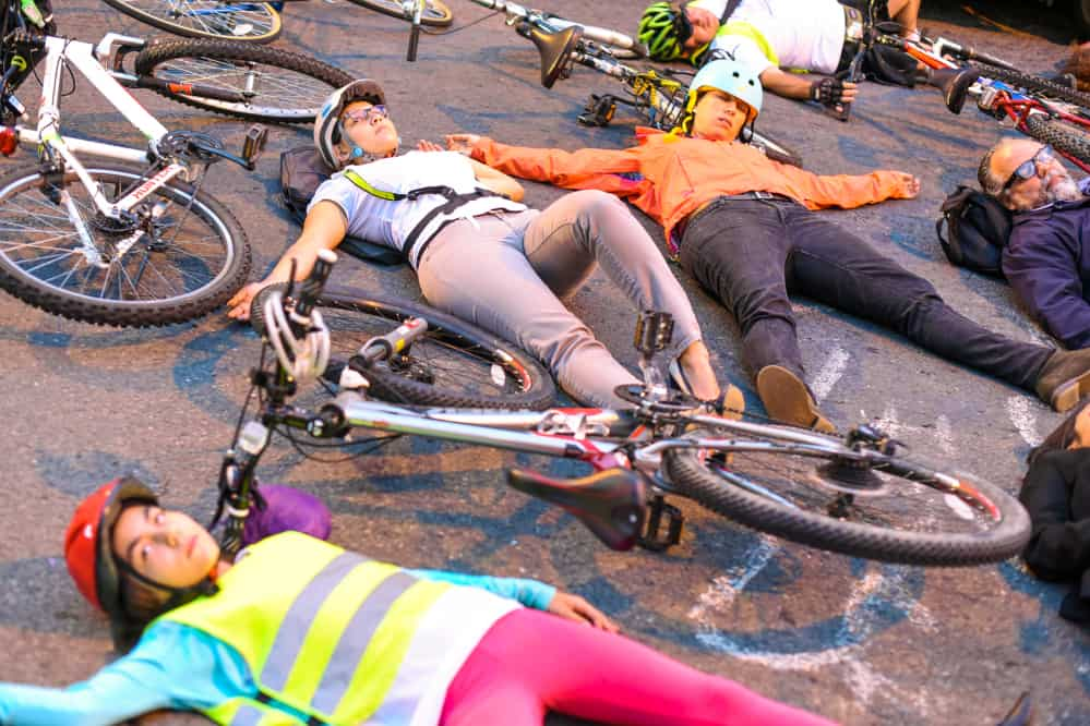 cyclist protest