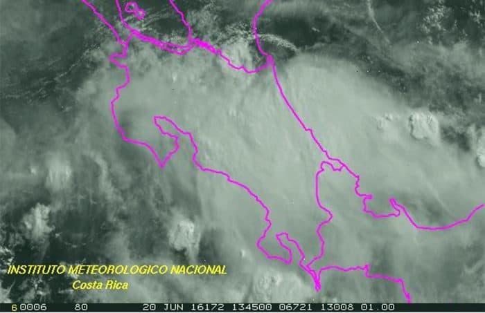 Low-pressure system over Costa Rica. June 20, 2016.