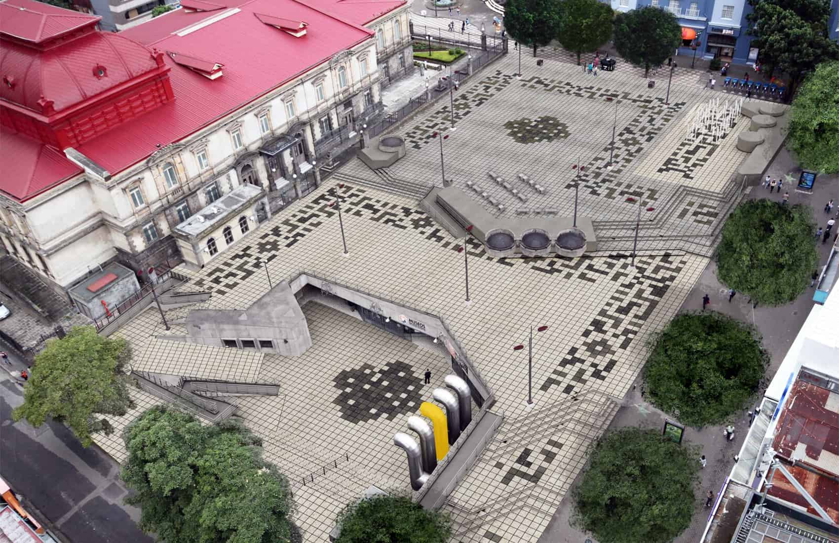 Plaza de la Cultura renovation, plan render. April, 2016.