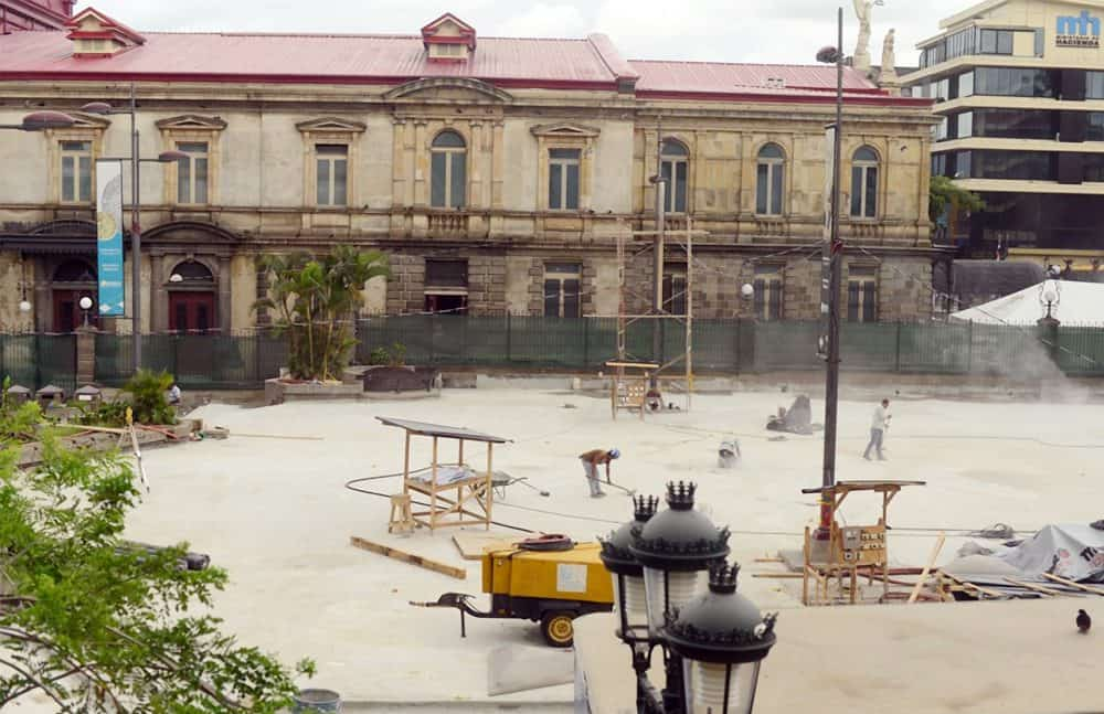 Renovation works at Plaza de la Cultura. June 21, 2016.