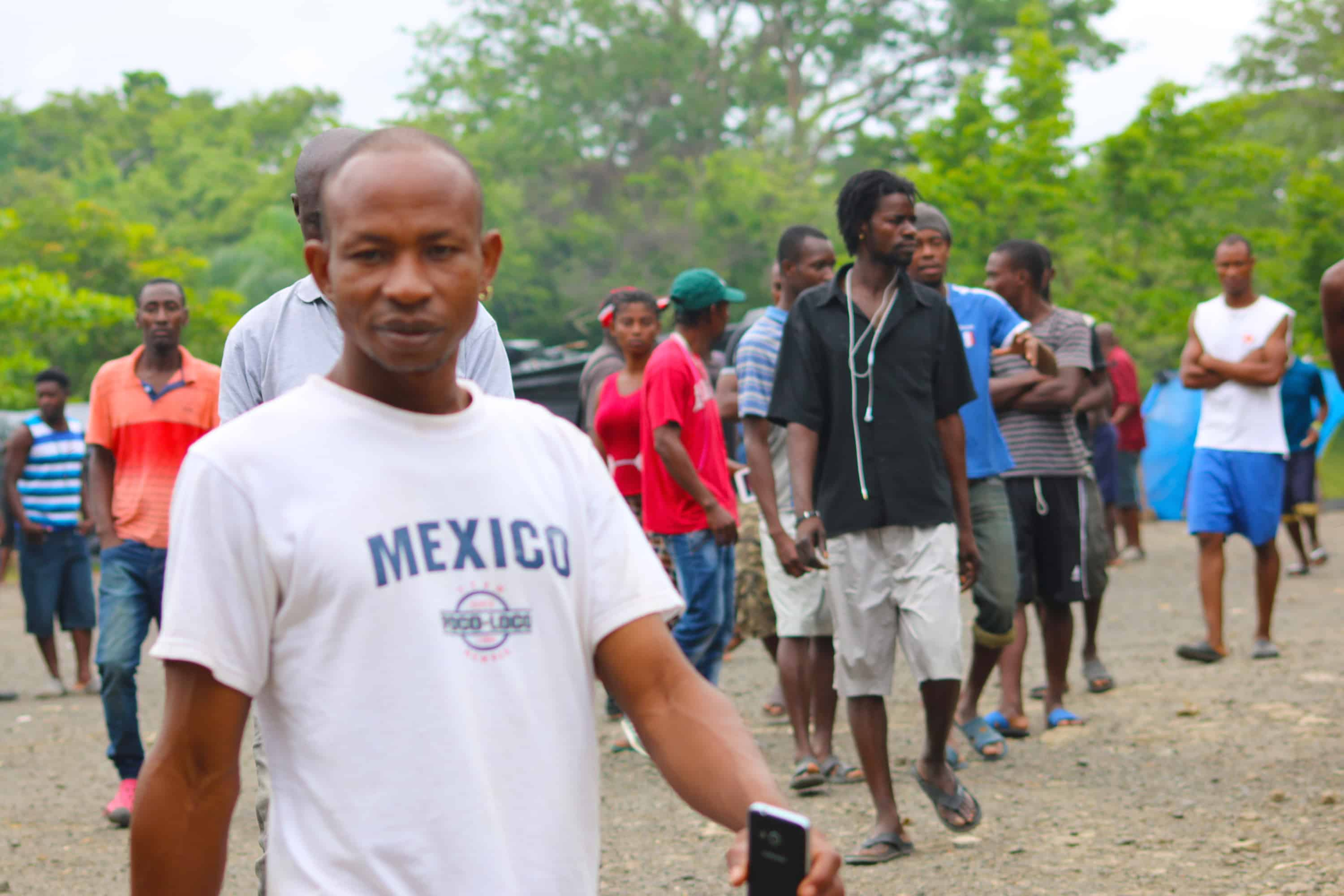 African and Haitian migrants at Peñas Blancas