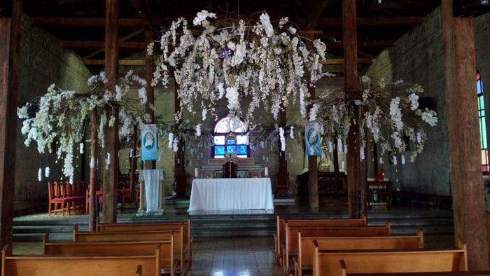 Interior of the Santa Ana Catholic Church, built in 1880.