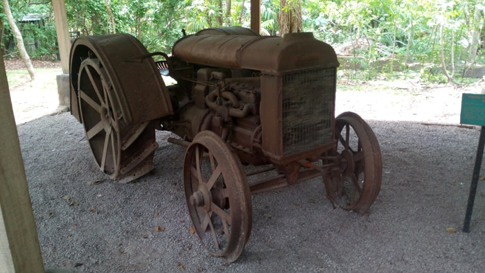Iron-wheeled 1924 Ford tractor at the Santa Ana Conservation Center's Agricultural History Museum.