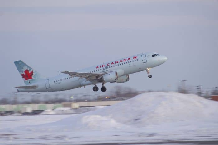 An Air Canada flight. Photo for illustrative purposes.
