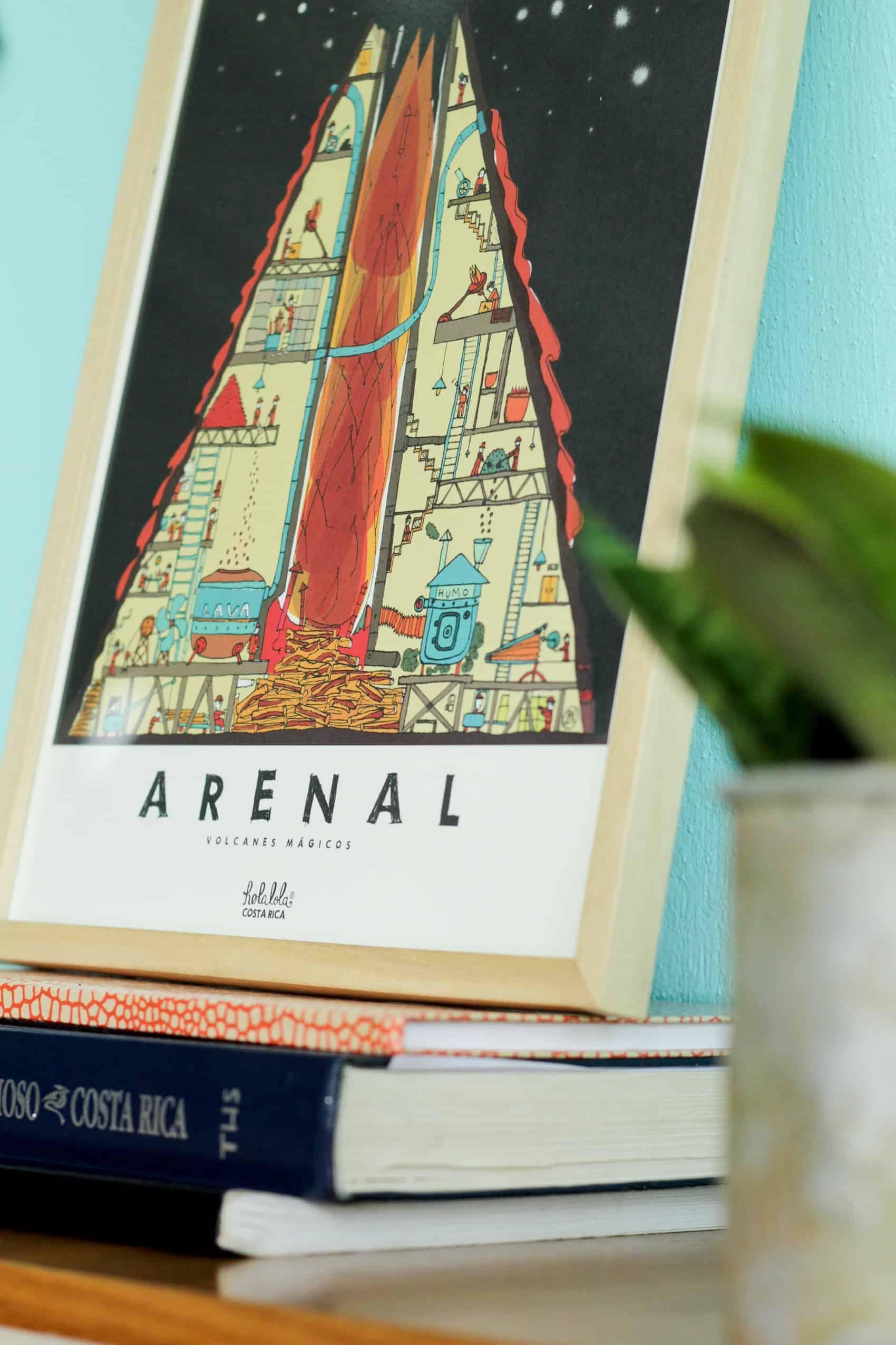 Arenal art poster